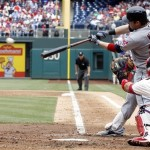 Jason Kipnis hits a home run in the 8th inning. (Photo Credit: H Rumph Jr/AP Photo)