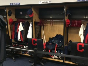 Equipment was in the lockers as a visual aid.  It made you wish the would put it on and start playing.