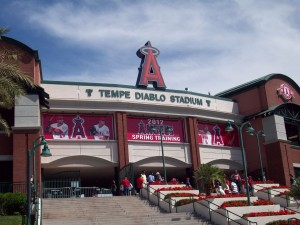 The outside of Tempe Diablo really reminds me of the Angels' park in Anaheim