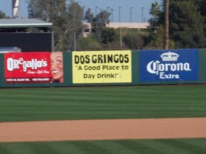 The best advertisement in the Cactus League is also housed at Tempe Diablo - spring training is all about day drinking