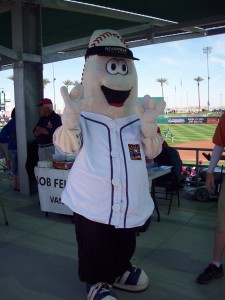 "Winter Haven didn't have ""Zizzy"" though, the anthropomorphic version of the ""Ziz"" statue outside of Goodyear Ballpark"