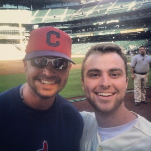 Nick Swisher, left, and Brohio governor Adam Gockowski
