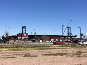 Outside view of Cubs Park