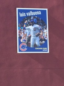 Remember this guy?  The Cubs had giant retro-style baseball cards of their players on the wall outside of the park.