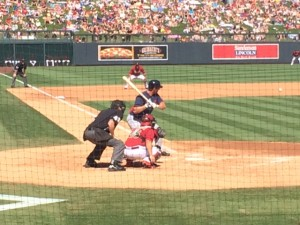 Francoeur just before striking out.