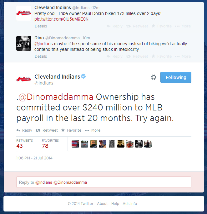 Indians twitter response