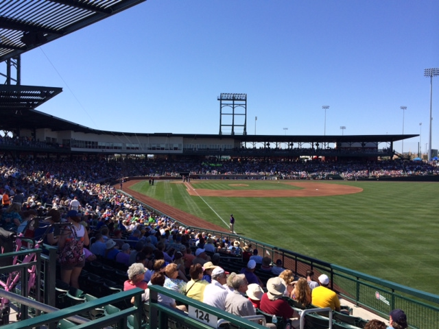 Sloan Park, home of the Cubs, in Mesa, AZ.