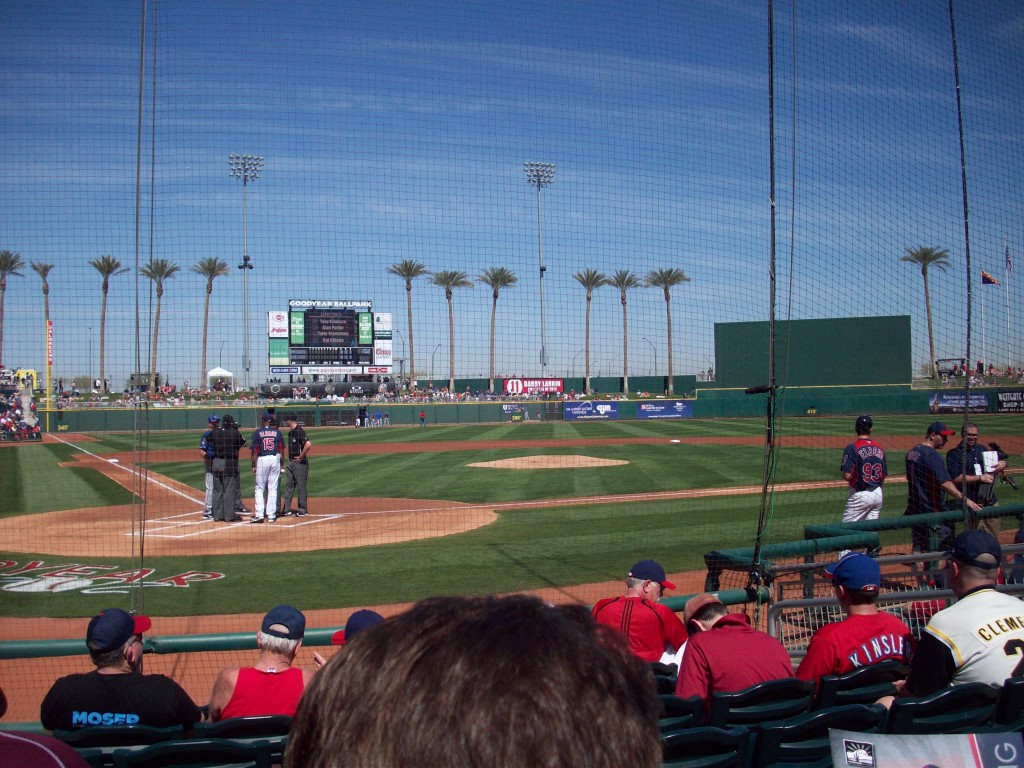 The view from inside Goodyear Ballpark.