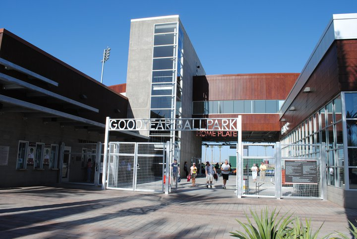 Home plate entrance to Goodyear Ballpark.