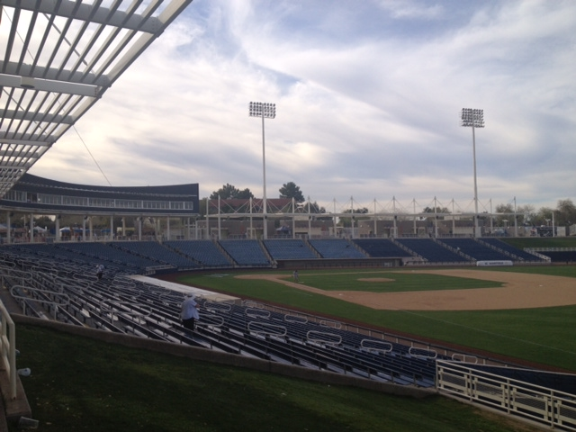 Maryvale Stadium, home to the Brewers, in Maryvale, AZ.