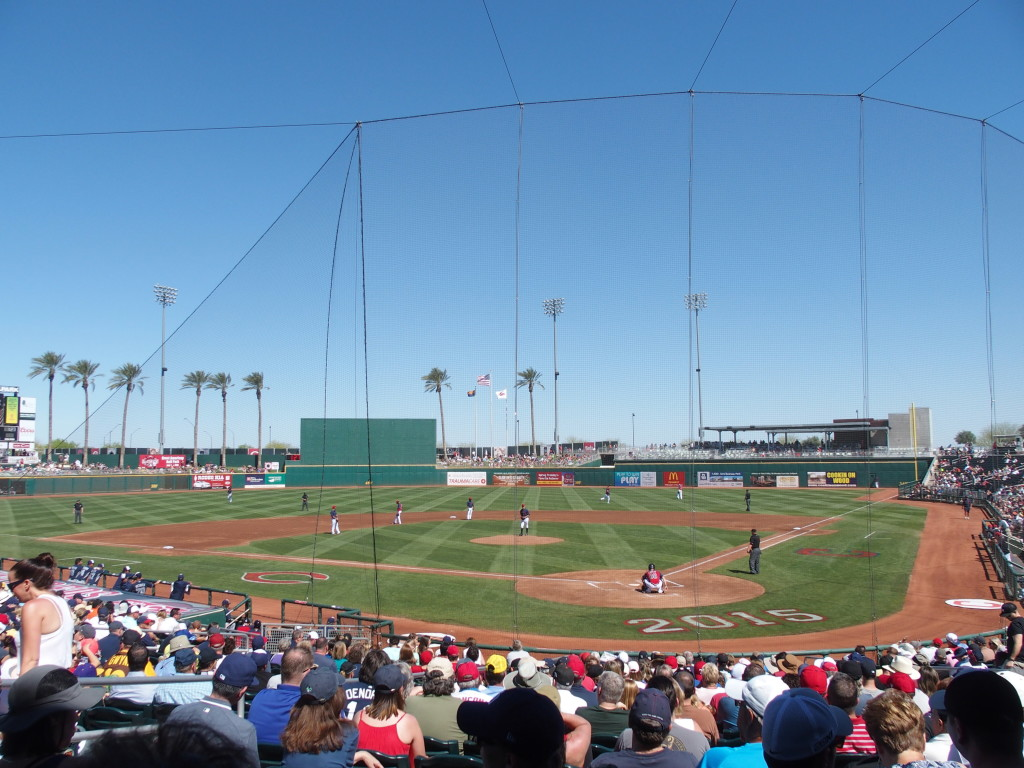Goodyear Ballpark on March 15 - Indians vs. the Padres