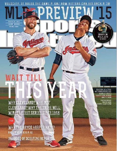 The cover contains Corey Kluber and Michael Brantley...ready to haunt our dreams and nightmares for the next 25 years.